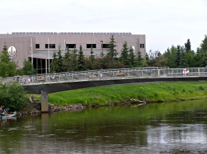 walking bridge over the Chena River